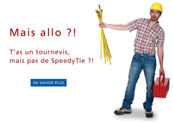 Colliers Speedy Tie - la 3ème main de l'installateur !